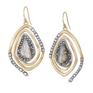 ALEXIS BITTAR • Spiral Crystal Encrusted Earrings